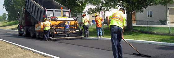 Paving of Driveways, Roadways, and Parking Lots